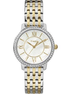 Часы TIMEX. Цвет: белый, кремовый, серебристый