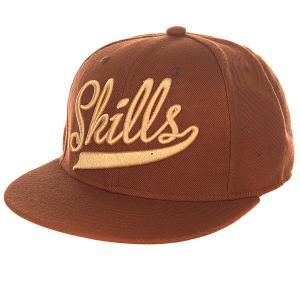 Бейсболка с прямым козырьком  01 Brown Skills. Цвет: ,коричневый