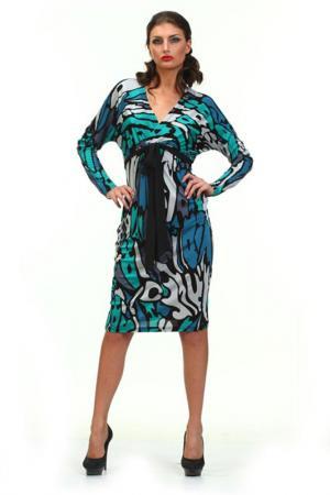 Платье LeVall. Цвет: диз цветной