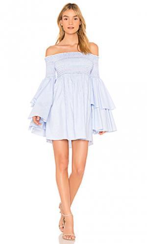 Платье primrose Central Park West. Цвет: синий