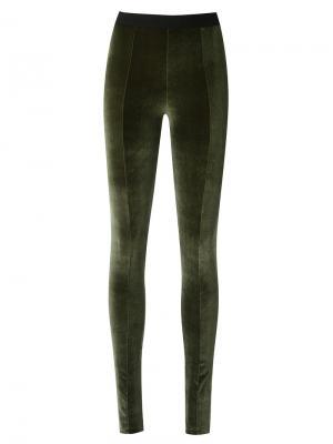 Velvet legging trousers Osklen. Цвет: зелёный
