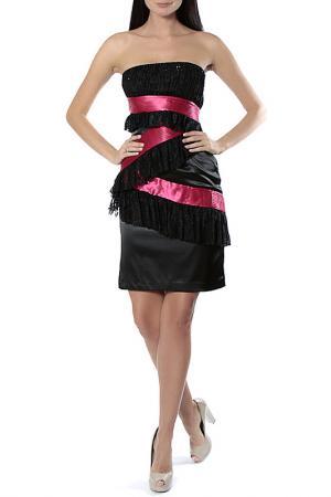 Платье Aftershock. Цвет: black fuchsia