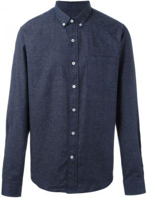 Рубашка с воротником на пуговицах Ami Alexandre Mattiussi. Цвет: синий
