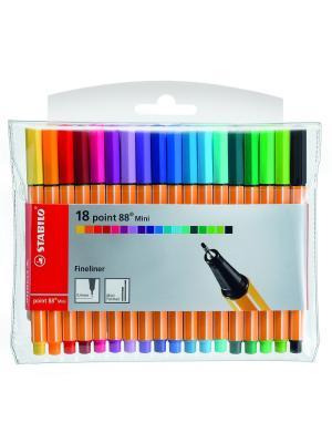 Ручка капиллярная mini, 18 шт. Stabilo. Цвет: оранжевый