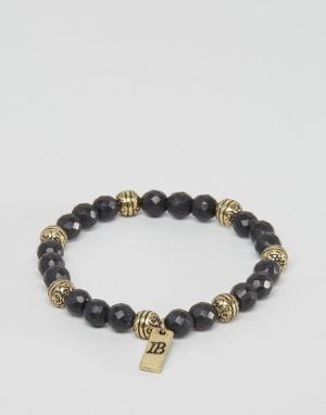 Icon Brand Черный браслет из бусин. Цвет: черный