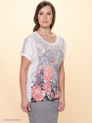 Блузка Betty Barclay. Цвет: белый, розовый