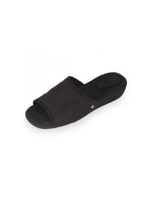 Тапочки Isotoner. Цвет: черный