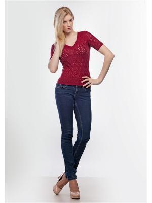 Пуловер Happychoice. Цвет: бордовый