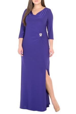Платье, брошь Svesta. Цвет: фиолетовый