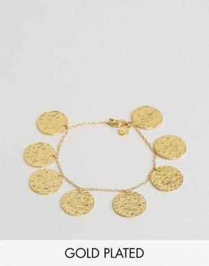 Gorjana Позолоченный браслет с монетками. Цвет: золотой