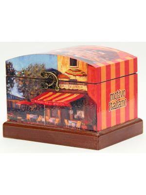 Шкатулка декоративная Причал Magic Home. Цвет: коричневый, оранжевый