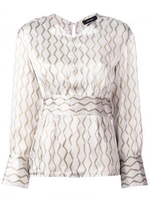 Блузка с геометрическим узором Isabel Marant. Цвет: телесный