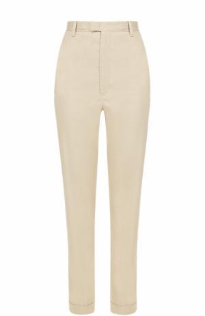 Укороченные брюки прямого кроя Isabel Marant Etoile. Цвет: кремовый