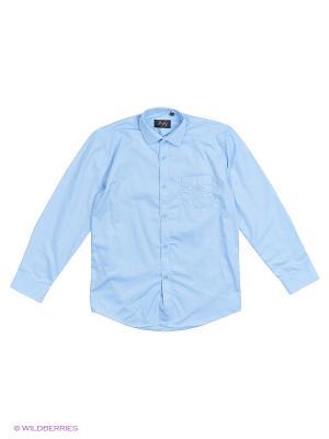 Рубашка Briton. Цвет: голубой