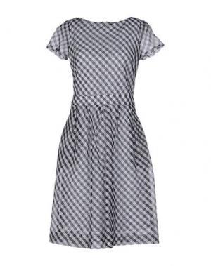 Короткое платье FABRIZIO LENZI. Цвет: серый