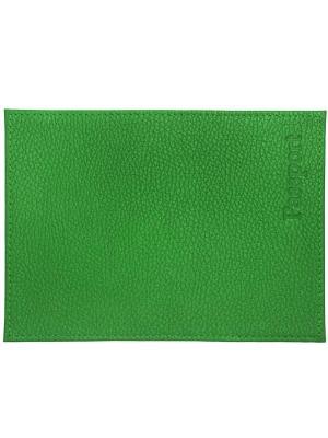 Обложка для паспорта зеленая Tina Bolotina. Цвет: зеленый