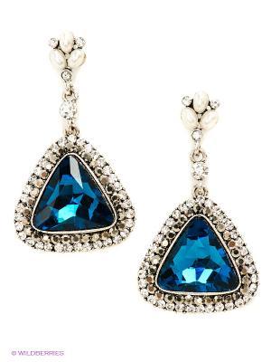 Серьги Royal Diamond. Цвет: синий