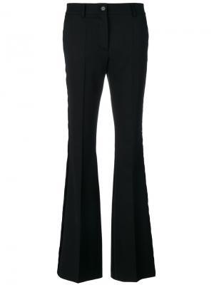 Расклешенные брюки узкого кроя P.A.R.O.S.H.. Цвет: чёрный