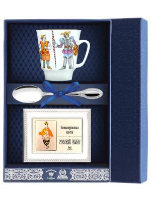 Набор чайный Майская - Балет Дон Кихот с рамкой д/фото 3 пр.+футляр АргентА. Цвет: серебристый