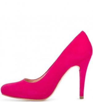 Замшевые туфли на высоком каблуке UNISA. Цвет: фуксия