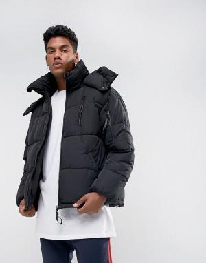 Sixth June Черная дутая куртка. Цвет: черный