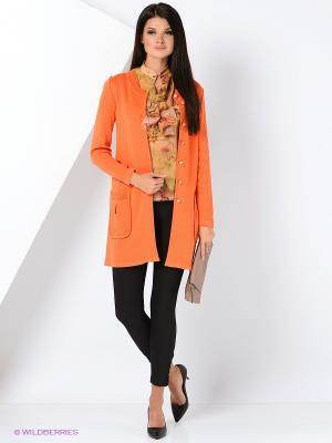 Жакет KTF Collection. Цвет: оранжевый