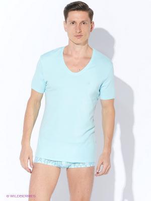 Футболка Calvin Klein. Цвет: светло-голубой