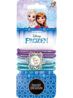 Набор резинок Резные снежинки Daisy Design. Цвет: голубой