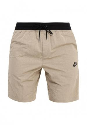 Шорты спортивные Nike. Цвет: бежевый
