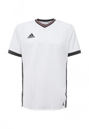 Футболка спортивная adidas Performance. Цвет: белый