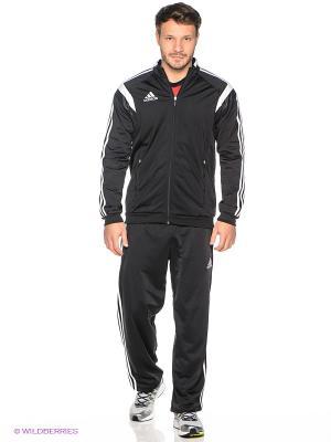 Спортивный костюм CON14 PES SUIT Adidas. Цвет: черный, белый