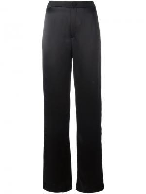 Широкие брюки с полосками Lanvin. Цвет: синий