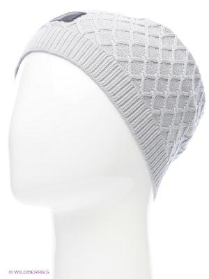 Шапка NSW MS CABLE KNIT BEANIE Nike. Цвет: светло-серый, серебристый, сиреневый