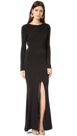 Вечернее платье с длинными рукавами Rachel Zoe. Цвет: голубой