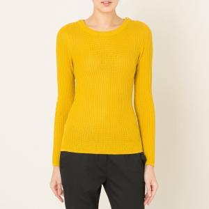 Пуловер с вырезом-лодочка FORAKER SESSUN. Цвет: желтый