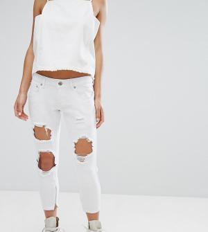Liquor N Poker Petite Рваные джинсы скинни &. Цвет: белый