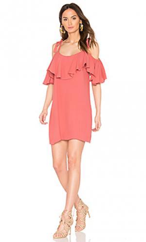 Платье emil MISA Los Angeles. Цвет: красный