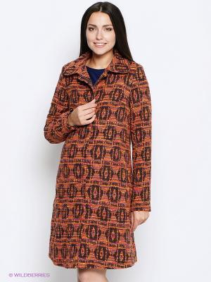 Пальто MammySize. Цвет: оранжевый