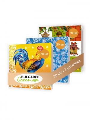 Набор новогодний Огненный Петух Bulgaree Green. Цвет: зеленый, красный, оранжевый, синий