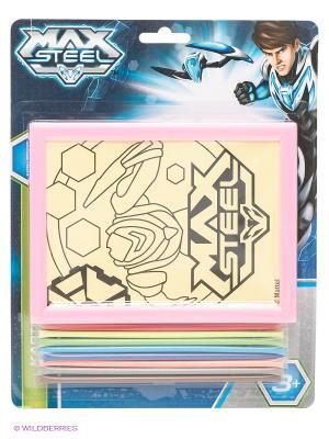 Картинка Max Steel из цветного песка Centrum. Цвет: бежевый, розовый