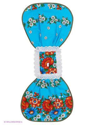 Полотенце Матрешка Метиз. Цвет: голубой