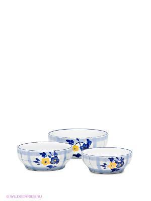 Набор салатников Bekker. Цвет: белый, синий, голубой