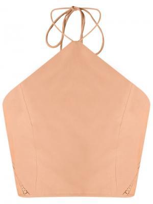 Halterneck top Giuliana Romanno. Цвет: розовый и фиолетовый