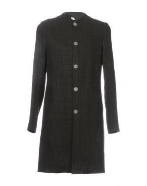 Легкое пальто LABEL UNDER CONSTRUCTION. Цвет: черный