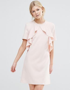 Alter Petite Платье с оборками. Цвет: розовый