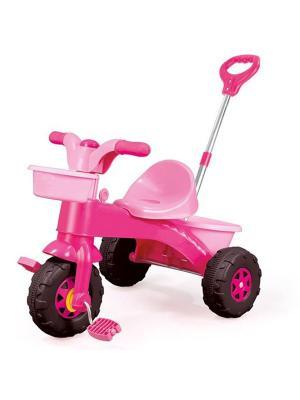 Мой первый велосипед с родительской ручкой розовый DOLU. Цвет: розовый