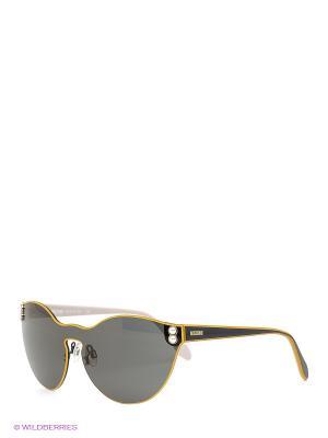 Очки солнцезащитные MO 743S 03 MOSCHINO. Цвет: черный, оранжевый