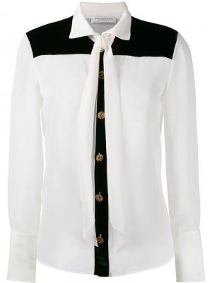 Рубашка с завязкой на вороте Philosophy Di Lorenzo Serafini. Цвет: телесный