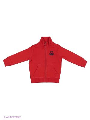 Толстовка United Colors of Benetton. Цвет: красный, темно-красный