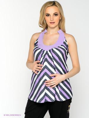 Блузка для беременных 40 недель. Цвет: сиреневый, черный